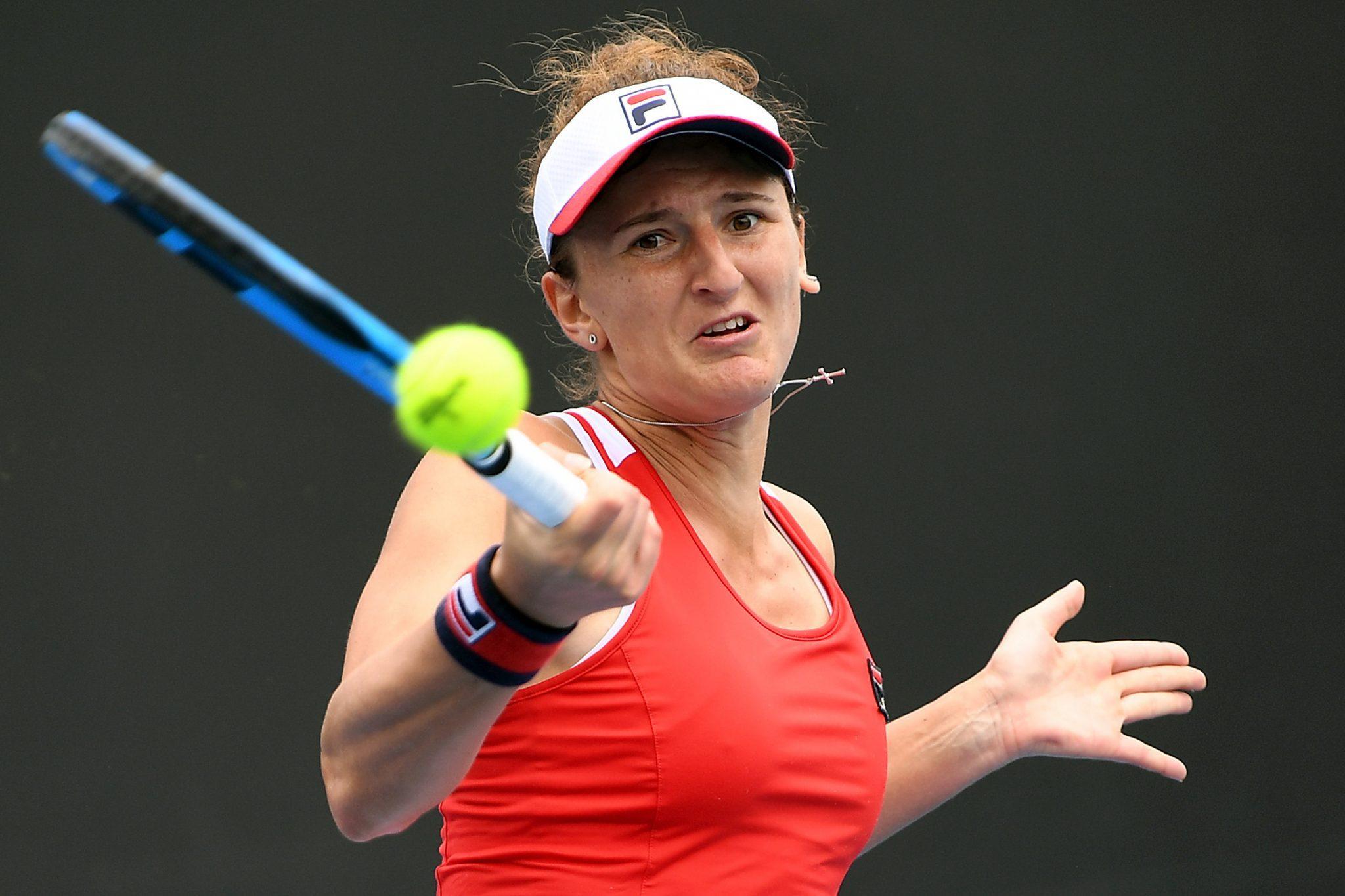 Romania's Irina-Camelia Begu reacts during her match ...  |Irina Begu